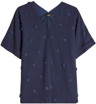 Steffen Schraut Blouse with Flower Embellishments