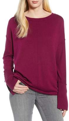 Caslon Zip Cuff Sweater