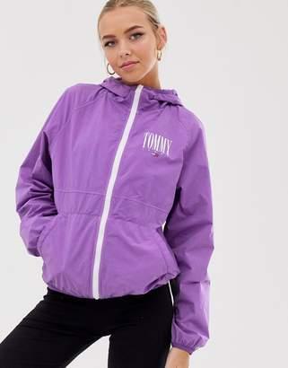 Tommy Jeans logo zip through windbreaker