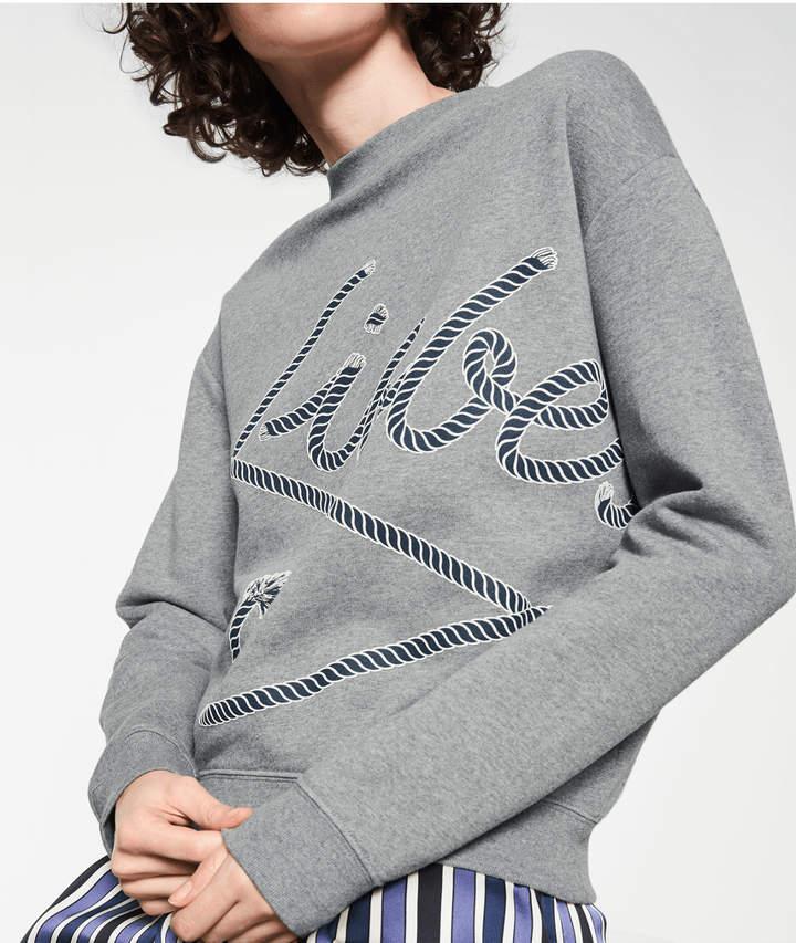 Sweatshirt mit Liebeskind, Grau/Schwarz, Größe L