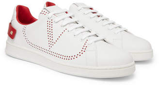 Valentino Net Perforated Leather Sneakers