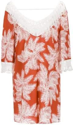 Track & Field printed macrame dress