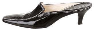Tod's Patent Leather Pointed-Toe Mules