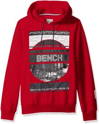 Bench Men's Graphic Hoodie, Ribbon Red, XXL