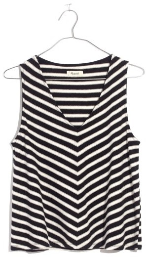 Women's Madewell Chevron Stripe Swing Tank
