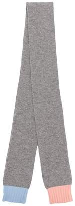 Parker Chinti & contrasting edges knitted scarf