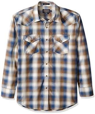 Pendleton Men's Long Sleeve Button Front Classic-fit Frontier Shirt