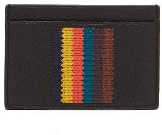 Paul Smith Bright Stripe Leather Card Holder - Mens - Black Multi