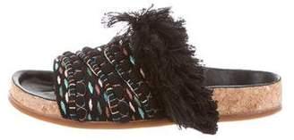 Chloé Embroidered Slide Sandals