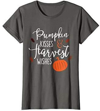 Pumpkin Kisses Harvest Wishes Fall Season Shirt For Women