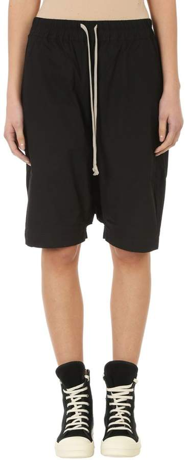Black Cotton Pods Shorts