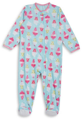 Little Me Baby Girls Ice Cream Print Footie $20 thestylecure.com