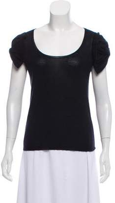 Prada Short Sleeve Scoop Neck Sweater