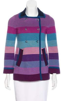Marc by Marc Jacobs Double-Breasted Striped Cardigan