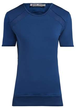 adidas by Stella McCartney Essential Mesh Panel T Shirt - Womens - Blue