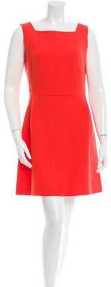Victoria Beckham Victoria, Wool Square Neck Dress