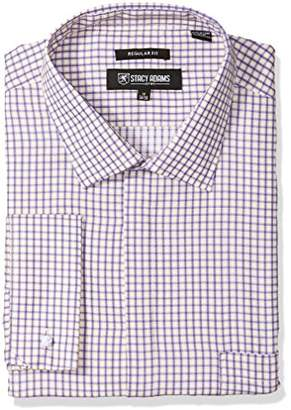 Stacy Adams Men's Big and Tall Bold Check Classic Fit Dress Shirt