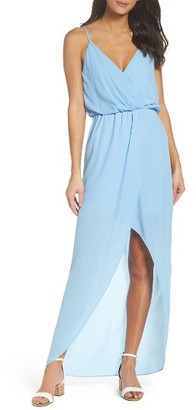 Women's Charles Henry Surplice Chiffon Maxi Dress $88 thestylecure.com
