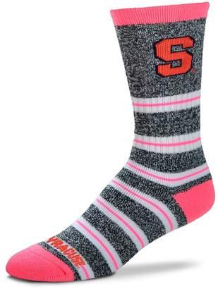 For Bare Feet Women's Syracuse Orange Striped Crew Socks