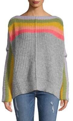Free People Knit Wool Rainbow Sweater