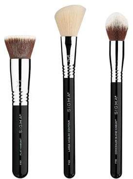 Sigma Beauty Limited-Edition Holiday Finished Face Three-Piece Brush Set