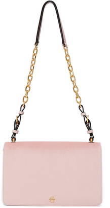 Tory Burch Sadie Velvet Shoulder Bag $425 thestylecure.com