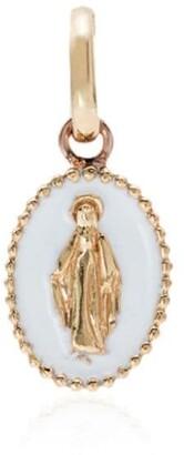 Gigi Clozeau white and rose gold madonna charm