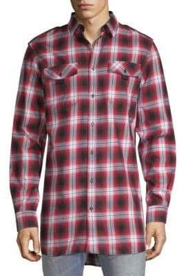 Diesel Black Gold DBG Plaid Button-Down Shirt