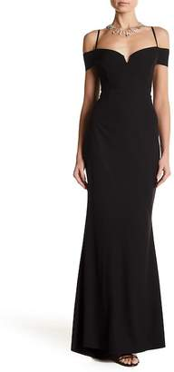 Marina Sweetheart Cold Shoulder Gown