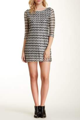Papillon Metallic Zigzag Dress