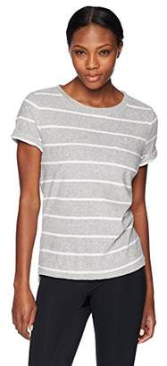 Andrew Marc Performance Women's Terry Cloth Striped Tee