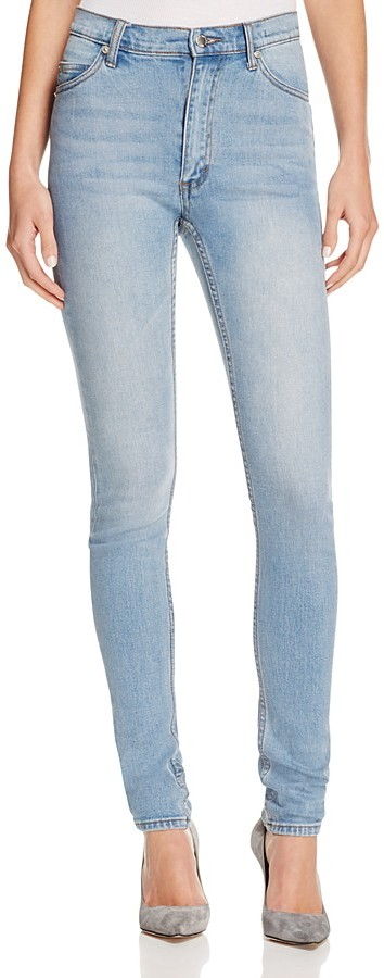 Cheap Monday Cheap Monday Second Skin Skinny Jeans in Stonewash Blue