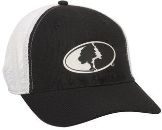 Mossy Oak Black & White Mesh back Stretch Fit Cap; Large / X-Large