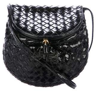 Bottega Veneta Vintage Patent Leather Crossbody Bag