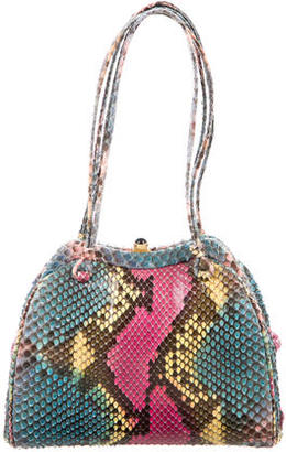 Judith Leiber Multicolor Snakeskin Handle Bag $195 thestylecure.com