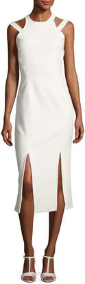 Cinq à Sept Henriette Strappy Sleeveless Midi Dress, Ivory