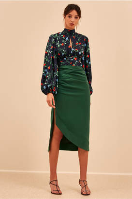 C/Meo Collective ENDED UP HERE SKIRT forest