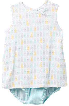 Angel Dear Bunny Cotton Tail All-in-One Dress (Baby & Toddler Girls)