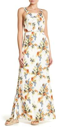 Haute Hippie Overall Floral Gown