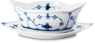 """Royal Copenhagen Blue Fluted Plain"""" Sauce Boat With Fixed Stand"""
