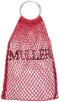 Muller of Yoshio Kubo Muller Of Yoshiokubo fishnet logo mini bag