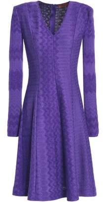 Missoni Flared Crochet-Knit Dress