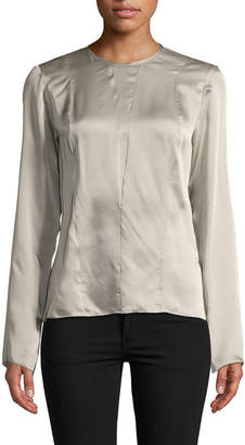 Narciso Rodriguez Georgette Silk Blouse
