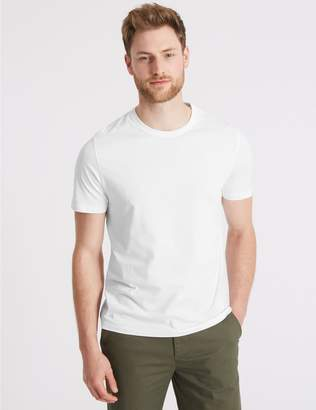Marks and Spencer Slim Fit Pure Cotton Crew Neck T-Shirt