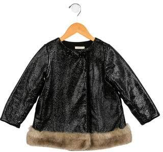 Anais & I Girls' Textured Double-Breasted Coat