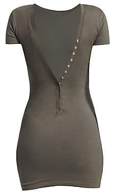 Alexander Wang Women's Snap-Back T-Shirt Dress
