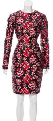 Lanvin Jacquard Knee-Length Dress w/ Tags