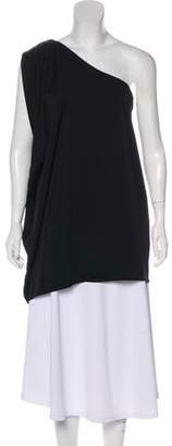 Rachel Zoe One-Shoulder Silk Blouse