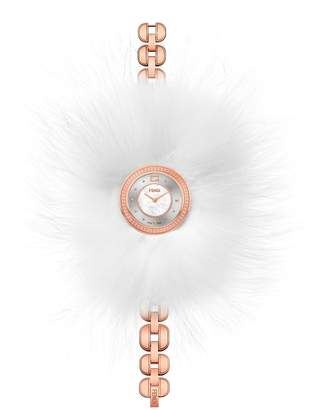 Fendi My Way Genuine Fox Fur Glamy Bracelet Watch, 36mm