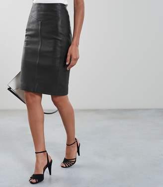 Reiss Megan Leather Pencil Skirt